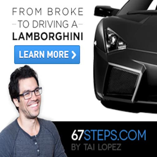 a picture of tai lopez offer