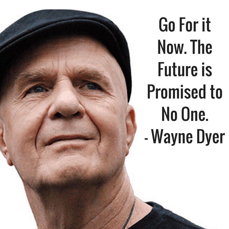 go for it now quote wayne dyer