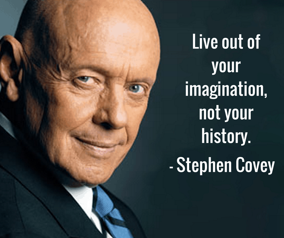 stephen covey live out your imagination quote